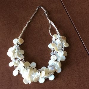Shell and Crystal Beaded Necklace by Lucky Brand